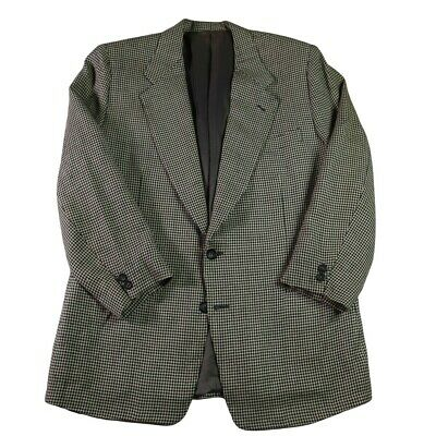 Canali Men's Tan Houndstooth 2 Button Wool Silk Blazer Sport's Coat Size 40S