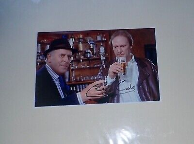 George Cole UK Actor Arthur Daley in Minder Signed 8 x 6 mounted Photo wilth COA