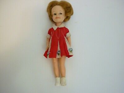 "VINTAGE Penny Brite Doll 1963 Deluxe Reading Corp 8"" Original Red Dress"