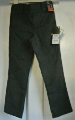 New Boys Next School Teflon Pull on Trousers Grey  size 5 years slim fit