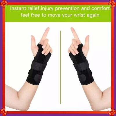 Wrist Hand Brace Support Carpal Tunnel Splint Arthritis Sprain Stabilizer S M L