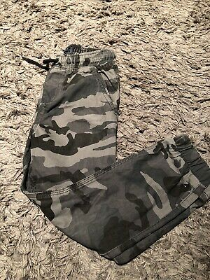 Boys Age 6 Yrs Camo Cuffed Trousers From Next
