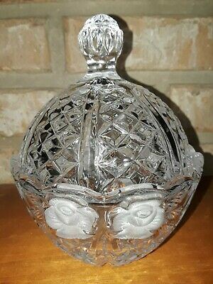 Vintage Lead Crystal Covered Candy Dish