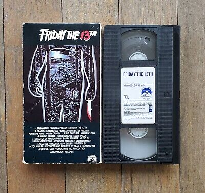 Friday the 13th - Part 1 VHS Tape horror Jason Voorhees Sean Cunningham