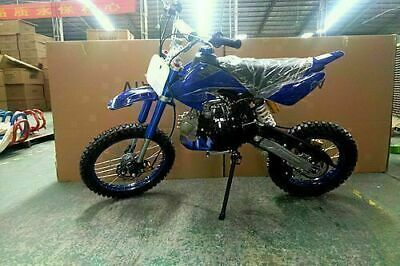 Bigfoot 125Cc Pit Motor Dirt Bike Trail Motocross Terrain Pro Kick Start Blue