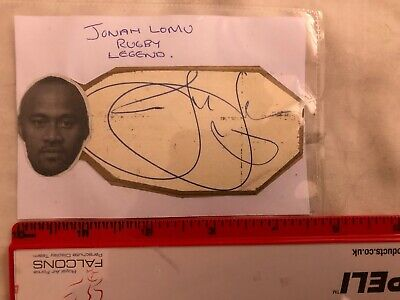 Jonah Lomu New Zealand Rugby legend hand signed undedicated rare All Blacks Card