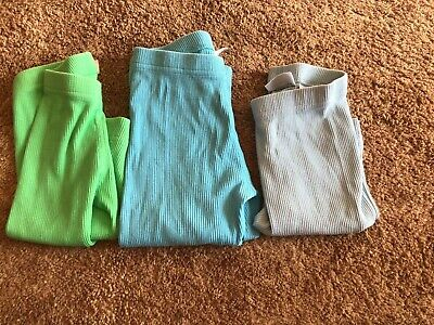 Hanna Andersson Girls Blue, Green, Light Blue capri Ribbed size 110/ US 5