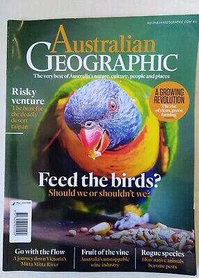 Australian Geographic Magazine, May - June 2018, FEED THE BIRDS?