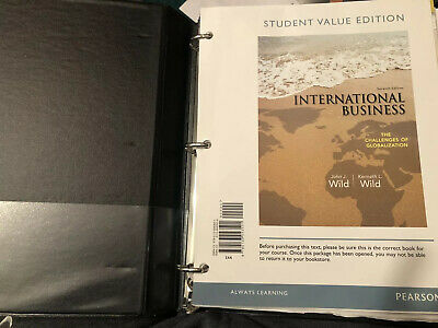 International Business The Challenges of Globalization by John J Wild Loose Leaf