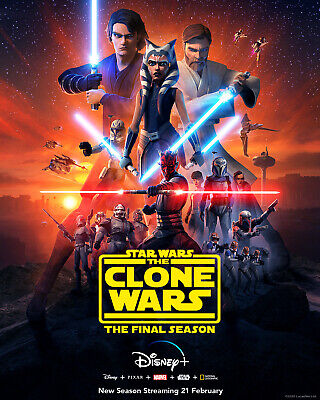 Star Wars The Clone Wars Season 7 Final Season decal Poster Print exclusive Yoda