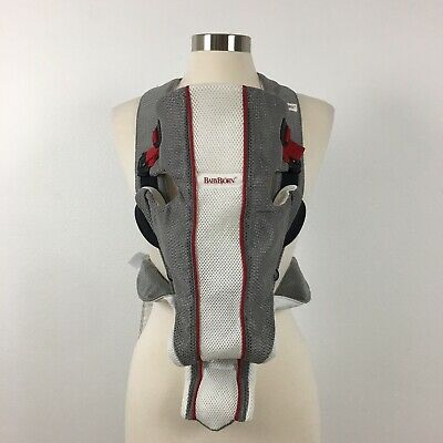 Baby Bjorn Baby Carrier Mesh Air One Gray White Red 8-25 lbs Front Back