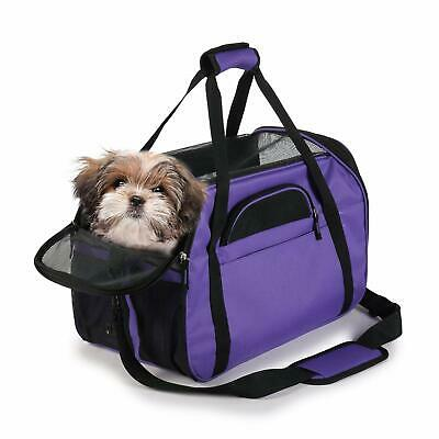 JESPET Purple Soft Sided Pet Carrier Comfort for Airline Travel