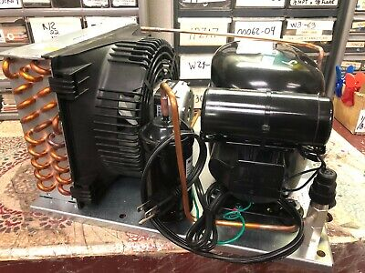Tecumseh Refrigeration Condensing Unit, 1/3 HP, Air Cooled, Receiver Tank, 115V