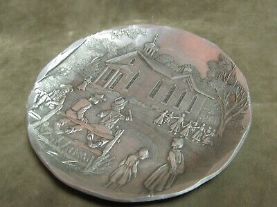 Wendell August Hand Forged Aluminum Metal One Room Schoolhouse Small Plate