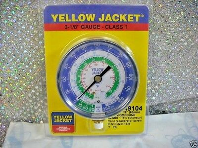 Yellow Jacket, Ritchie, Gauge, Part# 49104, 3-1/8 R12, R22, R134a,  -30 to 350