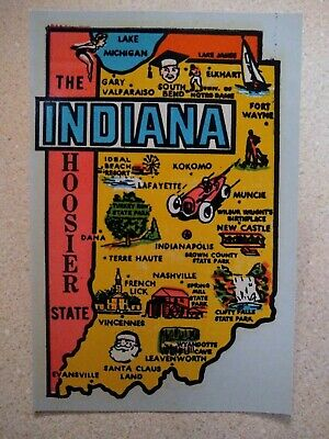 Wolverine State Michigan Vintage Style Travel Decal sticker