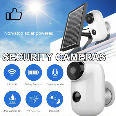 HD 1080P Outdoor IP66 Rechargeable Battery Wireless Security Solar Panel Camera