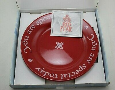 "Waechtersbach ""You Are Special"" Famous Red Plate Made In Germany"