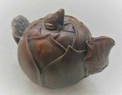 Unidentified Old Chinese Glazed Object With Frog On Top