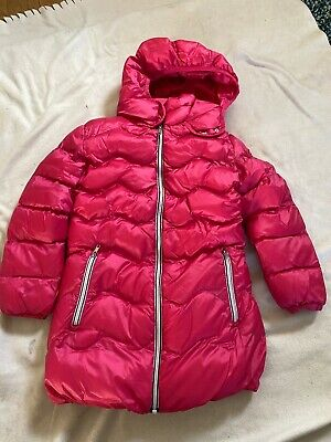 Girls Pink Puffa Longline Winter Coat From Next Age 9