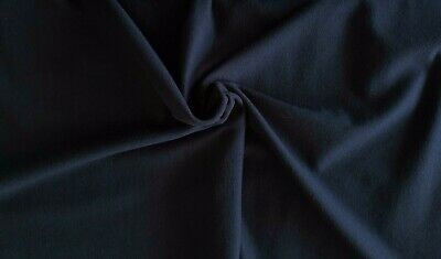 Top Quality Denim Blue Cotton Lycra Stretch Jersey Fabric - 1 full metre
