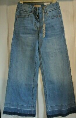 New Next girls Authentic cut Flare Jeans Blue age 11 years Ankle length