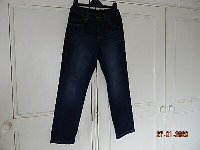 F&F Boys Blue Cotton Denim Skinny Jeans 10-11 Years Ex Cond