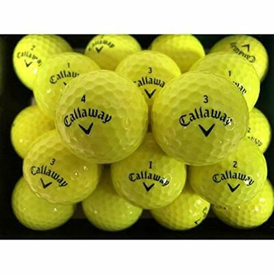 10 Dozen Callaway Chrome Soft plus X Yellow Used Golf Balls AAA Free Poker Chip