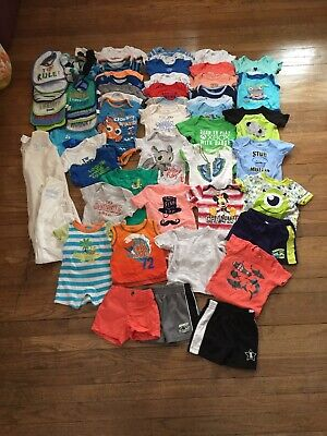 Baby Boy Lot Size 0-3 3 3-6 Months Summer 60+ Pieces