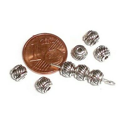 20 Intercalaires spacer Cylindre arg 3x6x6mm Perles apprêts création bijoux A354