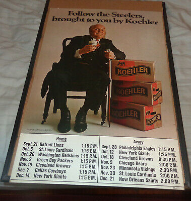 koehler beer erie pa pittsburgh steelers stand up sign