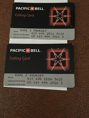 Vintage Pacific Bell Calling Cards 1980's Lot Of 2