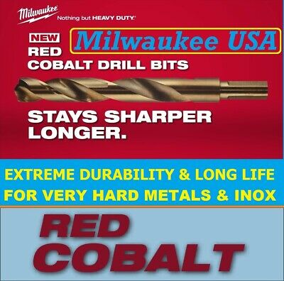 Milwaukee Drill Bits For Metal HSS G RED COBALT Stainless Steel Jobber Drill Set