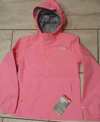 The North Face Girls Gem Pink Resolve Reflective Jacket - M (Approx. Age 10-11)