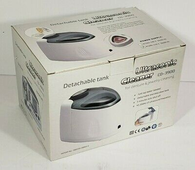Ultrasonic Cleaner CD-3900 for Dentures & Jewelry Detachable Water Tank New
