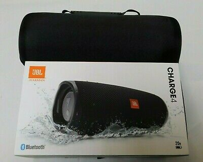 JBL Charge 4 Portable Waterproof Wireless Bluetooth Speaker - Black With Case!