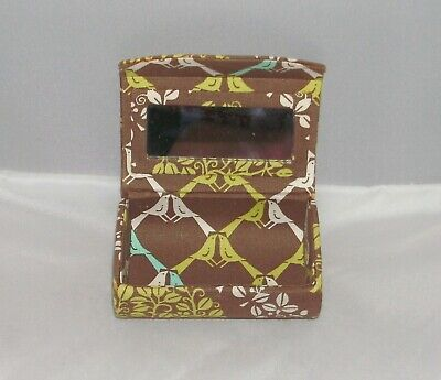 Vera Bradley Kiss Me Twice Sittin In A Tree Lipstick Case Storage Holder