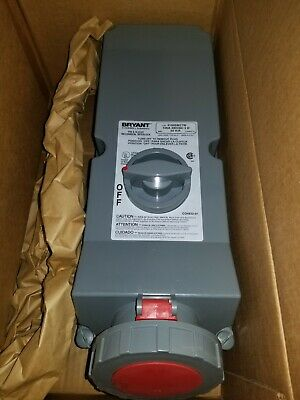 Bryant Hubbell 4100SMI7W 100a 480v 3 phase Pin and Sleeve Mechanical Interlock