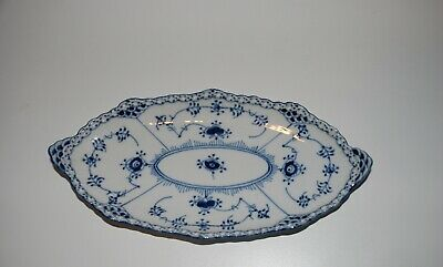 Royal CopenHagen blue fluted full lace oval dish #1115,second quality
