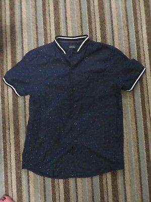 boys boy shirt casual navy short sleeved age 9 years next excellent condition