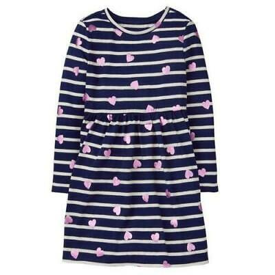 GYMBOREE Girl's Sweetheart Shop Shimmer Heart Dress - Size S (5-6)