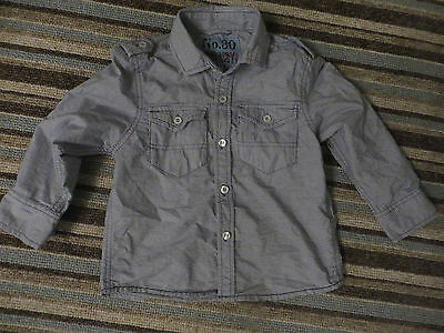 boys boy shirt top age 3 years next long sleeved navy & white striped superb