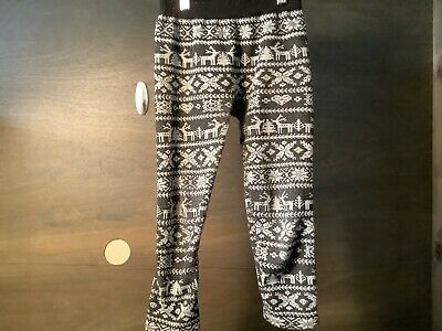 One Step Up Girls Leggings -BLACK AND GRAY PRINT - Size: LARGE/ XL (12-16)