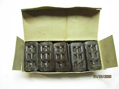 Vintage Leviton Electric No. 303 Bakelite Surface Mount Outlet Box of 10 NOS