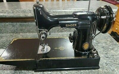 Vintage Singer 1951 Featherweight 221 Centennial Sewing Machine + EXTRAS