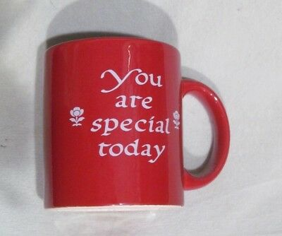 "Waechtersbach Red "" You Are Special Today "" Mug -  New with Defect"