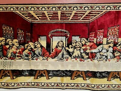 Vintage Religious Wall Hanging Tapestry - The Lord's Last Supper