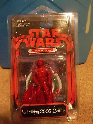 """Star Wars Darth Vader Holiday Edition 2005 Exclusive Red """"BRAND NEW"""" Christmas"""