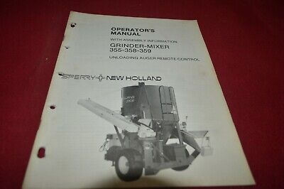 New Holland 355 358 359 Molinillo Mezcla Operator's Manual AMIL15