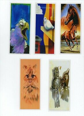 5 Bookmarks. Set 5. COMIC ANIMALS. KIDS BOOKMARKS. CHILDRENS BOOKMARKS.